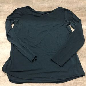 Athleta dark green long sleeve sz M